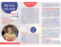 Nee-Eten brochure – mijn kind eet niet