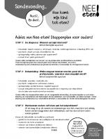 Nee-Eten stappenplan ouders